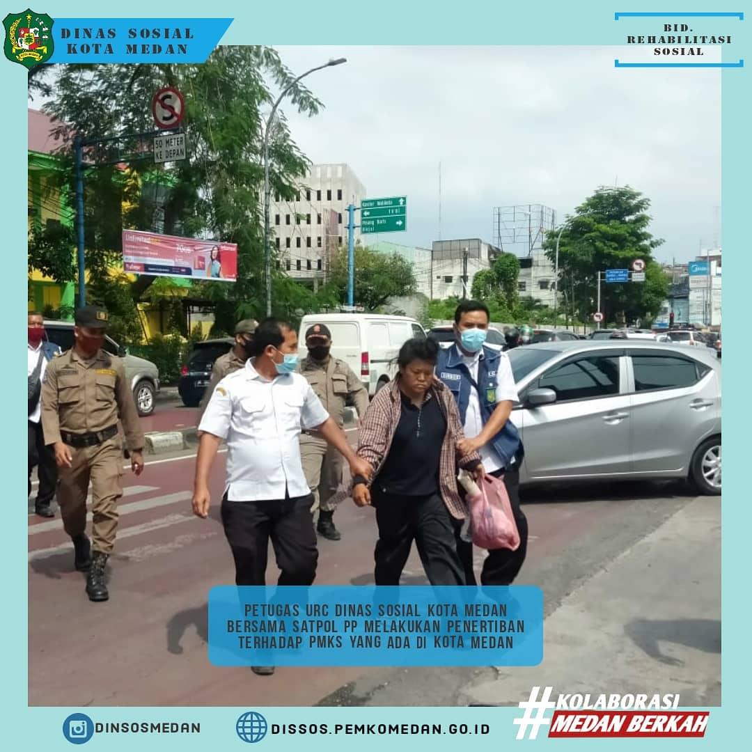 Kegiatan Rutin Dinas Sosial Kota Medan dan Satuan Polisi Pamong Praja Kota Medan